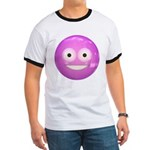Candy Smiley - Pink Ringer T