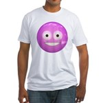 Candy Smiley - Pink Fitted T-Shirt
