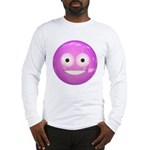 Candy Smiley - Pink Long Sleeve T-Shirt