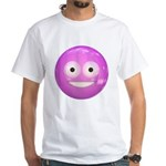 Candy Smiley - Pink White T-Shirt