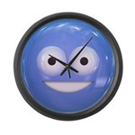 Candy Smiley - Blue Large Wall Clock