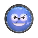 Candy Smiley - Blue Wall Clock