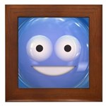 Candy Smiley - Blue Framed Tile