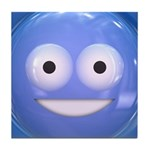 Candy Smiley - Blue Tile Coaster