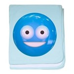 Candy Smiley - Blue baby blanket