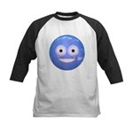 Candy Smiley - Blue Kids Baseball Jersey