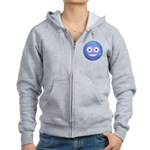 Candy Smiley - Blue Women's Zip Hoodie