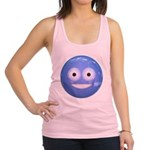 Candy Smiley - Blue Racerback Tank Top