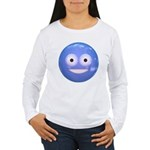 Candy Smiley - Blue Women's Long Sleeve T-Shirt