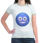 Candy Smiley - Blue Jr. Ringer T-Shirt