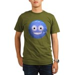 Candy Smiley - Blue Organic Men's T-Shirt (dark)