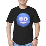 Candy Smiley - Blue Men's Fitted T-Shirt (dark)