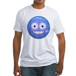 Candy Smiley - Blue Fitted T-Shirt