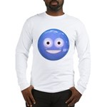 Candy Smiley - Blue Long Sleeve T-Shirt