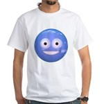 Candy Smiley - Blue White T-Shirt