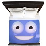 Candy Smiley - Blue King Duvet