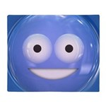 Candy Smiley - Blue Throw Blanket