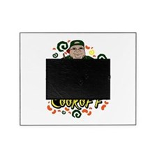 Man in Apron green Chili Cookoff Graphic Picture Frame