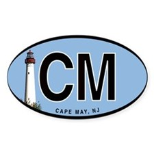 Cape May Euro Oval Decal