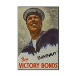Gangway Victory Bonds Mini Poster Print