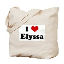I Love Elyssa Tote Bag