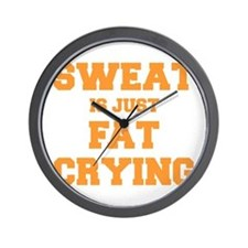 sweat-is-just-fat-crying-fresh-orange Wall Clock