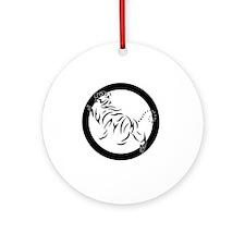 New Shotokan Tiger Round Ornament