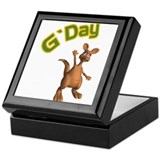 G'Day Australian Kangaroo Keepsake Box