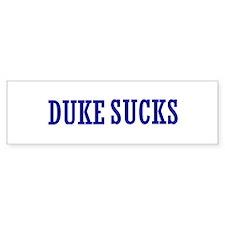 Duke Sucks Bumper Bumper Sticker