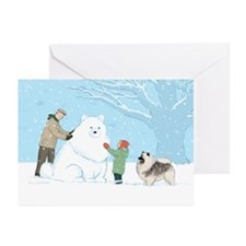 Keeshond Snow Dog Greeting Cards (Pk of 10)