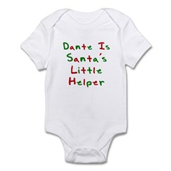 Dante Is Santa's Little Helpe Infant Bodysuit