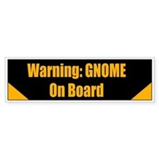 Gnome on board Bumper Bumper Sticker