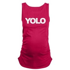 YOLO BLACK Maternity Tank Top