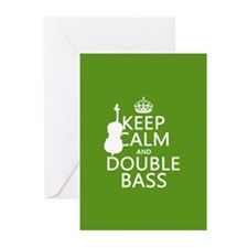 Keep Calm and Double Bass Greeting Cards (Pk of 10
