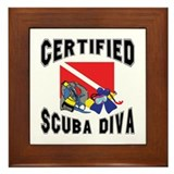 Certified SCUBA Diva Framed Tile