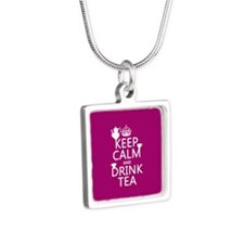 Keep Calm and Drink Tea Necklaces