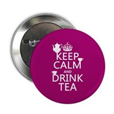 "Keep Calm and Drink Tea 2.25"" Button (100 pack)"