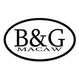 B&G Macaw Oval Decal