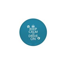 Keep Calm and Drive On Mini Button (100 pack)