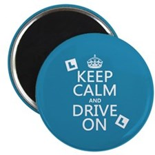 Keep Calm and Drive On Magnet