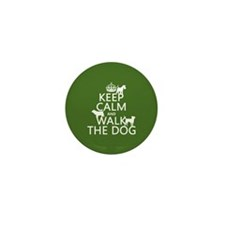 Keep Calm and Walk The Dog Mini Button (100 pack)