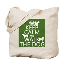 Keep Calm and Walk The Dog Tote Bag