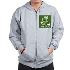 Keep Calm and Walk The Dog Zip Hoody