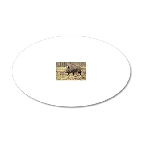 Wild Boar 20x12 Oval Wall Decal