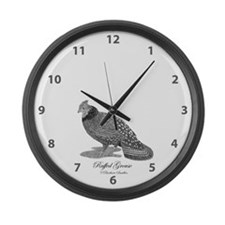 Ruffed Grouse Large Wall Clock