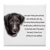 He is Your Dog Tile Coaster