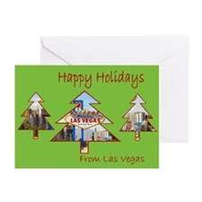 Las Vegas Happy Holidays Cards Pk of 10