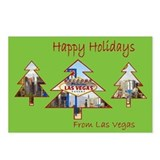 Las Vegas Happy Holidays Postcards pkg of 8
