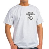 TEAM SHOCKER - Ash Grey T-Shirt