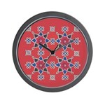 Red Beauty Wall Clock